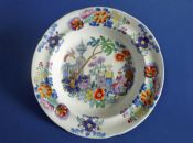 Early Davenport 'Chinese Celtic' Chinoiserie Pattern Dessert Dish c1820